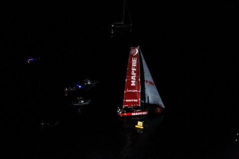 Volvo Ocean Race, Race Village, night, Arrivals, Newport, VOR, Sailing, 2014-15, vo65, MAPFRE, Leg6, Aerials