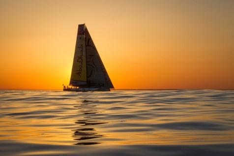 Abu Dhabi Ocean Racing, Volvo Ocean Race, sunset, Newport, arrivals, VOR, 2014-15