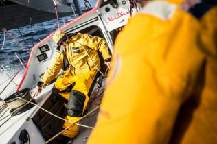 2014-15, Abu Dhabi Ocean Racing, Leg7, VOR, Volvo Ocean Race, onboard, Phil Harmer, sheet, lines