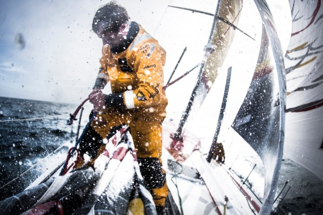 2014-15, Abu Dhabi Ocean Racing, Leg7, VOR, Volvo Ocean Race, onboard, Luke Parkinson, bow