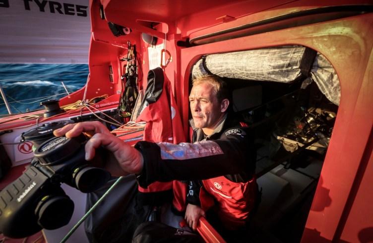 2014-15, Dongfeng Race Team, Leg7, OBR, VOR, Volvo Ocean Race, onboard, Kevin Escoffier, binoculars