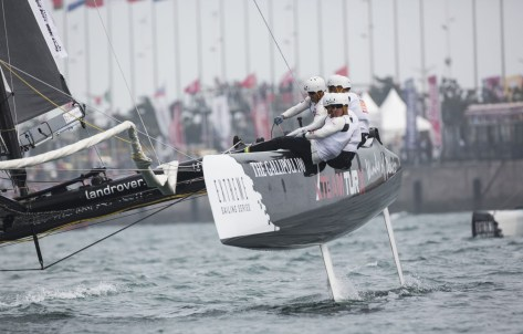 ESS, Extreme Sailing Series, Act3, Multihull, Qingdao, China, Day4.