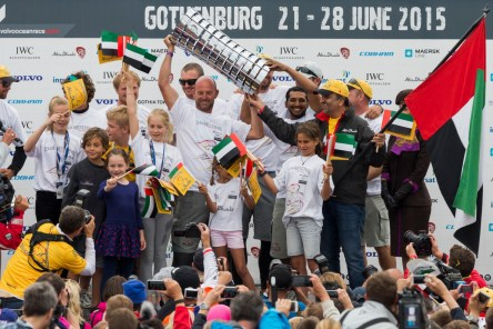 2014-15, VOR, Volvo Ocean Race, Prize giving, Gothenburg, stage, Inport, crowds, Abu Dhabi Ocean Racing