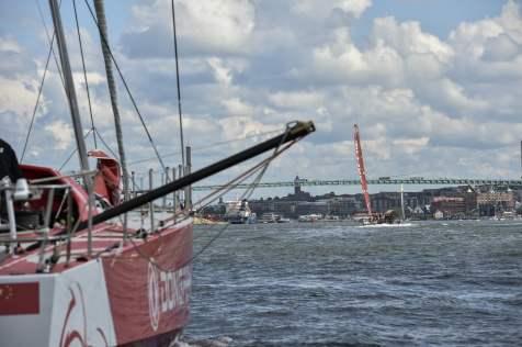 2014-15, VOR, Volvo Ocean Race, Gothenburg, Leg9, Arrivals, MAPFRE, Dongfeng Race Team