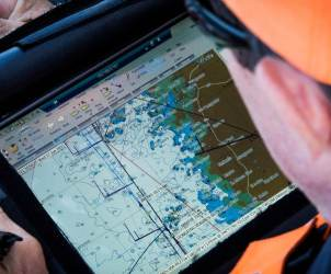 2014-15, Leg9, ONBOARD, TEAM ALVIMEDICA, VOR, Volvo Ocean Race, Will Oxley, nav, navigation, tablet, device
