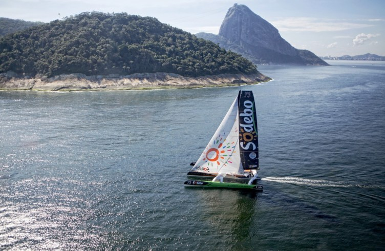 Brazil, Rio de Janeiro, South America, Thomas Coville, Ultime Class, VPLP, action, adrenalin, adventure, adventurer, boat, color, competition, future, high performance, horizontal, marine, nautical, navigation, ocean, offshore, onboard, outdoor, portrait, racing, racing yacht, record, sail, sailboat, sailing, sailing team, sailor, sea, sponsor, sponsoring, team, tourist, travel, trimaran, vision, voyage, water, wind, yacht, yachting, yachtman, yachtmen