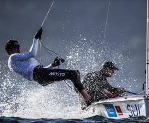 470 M, SUI SUI - Switzerland Yannick Brauchli Skipper Romuald Hausser Crew, TEST EVENT 2015 - AQUECE RIO INTERNATIONAL REGATTA