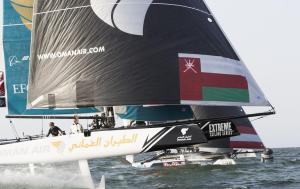 GC32, Foiling Catamaran, Muscat, Oman, The Extreme Sailing Series, Oman Air, Morgan Larson