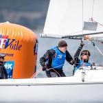 2016, Branding, Buoy, FRA 1 Bruno Jourdren FRABJ9 FRAEF12 - Eric Flageul- FRANV7 - Nicolas Vimont-Vicary, Hyeres, Olympic Sailing, Sailing World Cup, Sailing World Cup Hyeres TPM 2016, Sonar, World Sailing