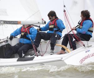Day 1, Delta Lloyd, Delta Lloyd Regatta, Europe, Medemblik, Netherlands, Olympic, Olympic classes, Sonar