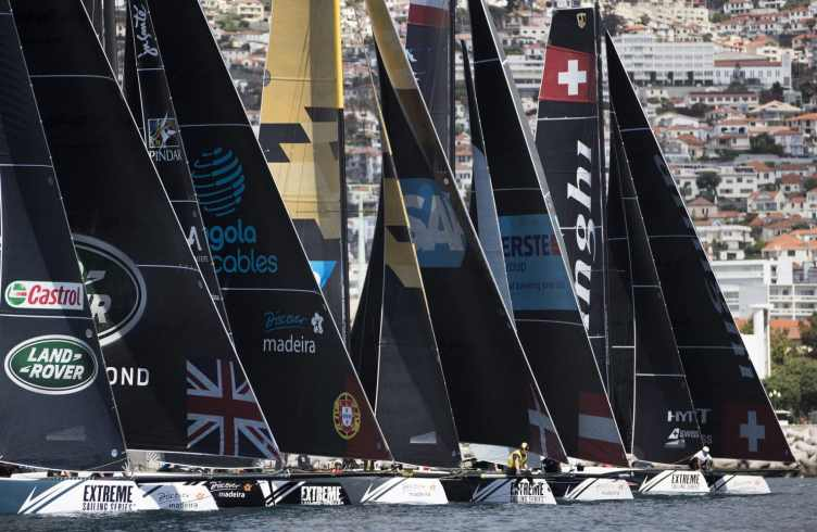 The Extreme Sailing Series 2016, Multihull, Foiling, Catamaran, GC32, Sailing, Racing, Day4