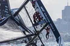 Act 8, Austrailia, Catamaran, Chris Taylor, Multihull, Neil Hunter, Rob Bunce, Sam Batten/Adam Kay/Oli Greber, Sydney, Sydney Harbour, Sydney Opera House, The Extreme Sailing Series 2016, Will Alloway, Yacht Racing, foiling, foiling. Land Rover BAR Academy, sailing