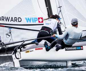 2017 World Cup Series Hyères, Classes, FRA 1 Billy Besson FRABB4 Amélie Riou FRAAR8, Nacra 17, Olympic Sailing, Pedro Martinez, Sailing Energy, World Cup Series Hyères 2017, World Sailing