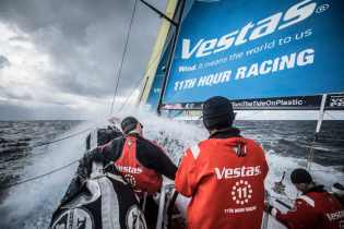 2017-18, Action, Charlie Enright, Commercial, Leg Zero, Musto, North Sails, On board, On-board, Pre-race, Race Sponsors, Race Suppliers, Rolex Fastnet Race, Rough weather, Skipper, Splash, Vestas 11th Hour Racing
