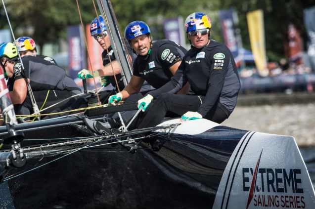Cardiff, Day2, ESS, Extreme Sailing Series, GC32, Red Bull Sailing Team, Vincent Curutchet