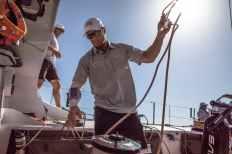 Bowman,Spain,Electronics,Detail,Commercial,Alicante,Harken,Luke Parkinson,phone,2017-18,on board,on-board,port, host city,Team Sun Hung Kai/Scallywag,Race Suppliers,MAPFRE In-Port Race Alicante