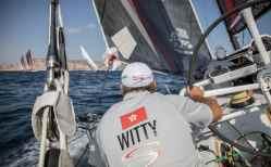 Skipper,Spain,Helm,Wheel,Alicante,2017-18,on board,on-board,port, host city,Team Sun Hung Kai/Scallywag,David Witt,Witty,MAPFRE In-Port Race Alicante
