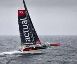Départ, Record, Tour du monde, Team Actual, Yves Le Blevec, Actual