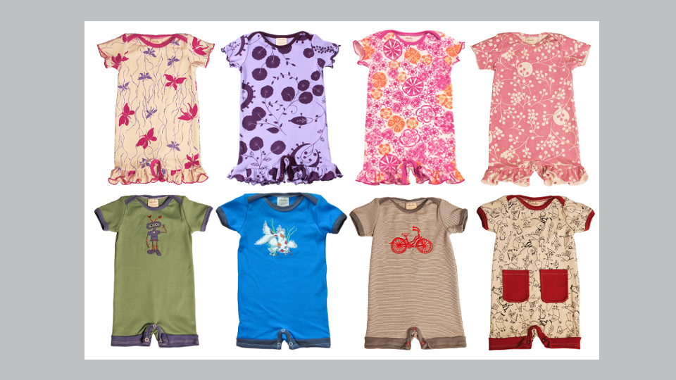Organic baby rompers