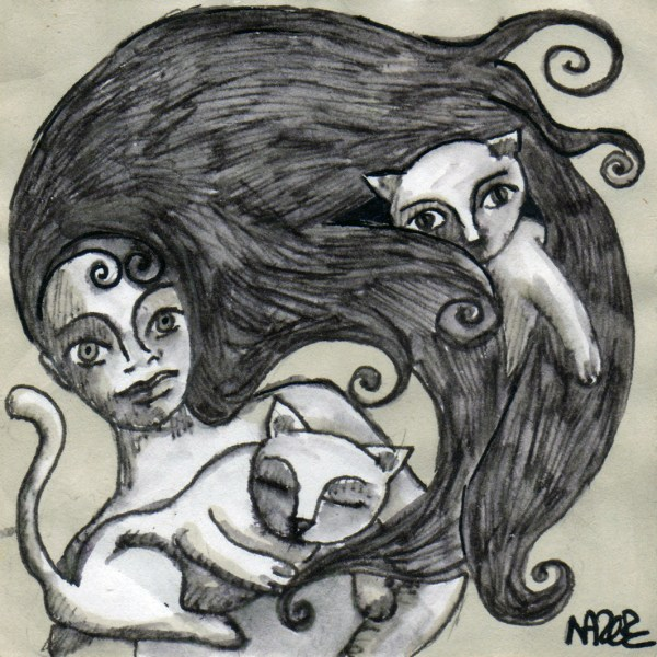 chats femme drawing cat woman