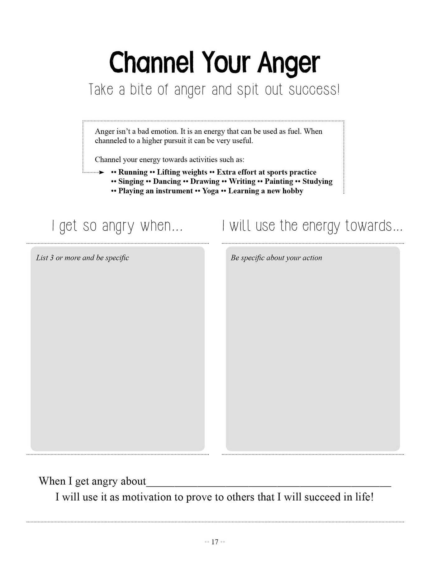 Anger And Forgiveness Worksheets