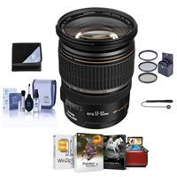Canon EF-S 17-55mm f/2.8 IS USM Digital SLR Zoom Lens USA Warranty Bundle With 77mm Filter Kit, Lens Cap Leash, Lens Cleaning Kit, Mac Software Package, Lens Wrap (15x15)