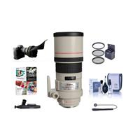 Canon EF 300mm f/4L IS USM Image Stabilizer AF Telephoto Lens Kit, USA with 77mm Filter Kit, Lens Cap Leash, Lens Cleaning Kit, Flex Lens Shade, Lenspen Cleaner