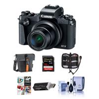 Canon PowerShot G1 X Mark III Digital Point & Shoot Camera - Bundle With 32GB SDHC U3 Card, Holster Case, Cleaning Kit, Card Reader, Memory wallet, PC Software Package