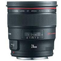 Canon Canon EF 24mm f/1.4L II USM AutoFocus Wide Angle Lens.