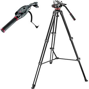 Manfrotto MVH502A 2-section Aluminum Tripod with Fluid
