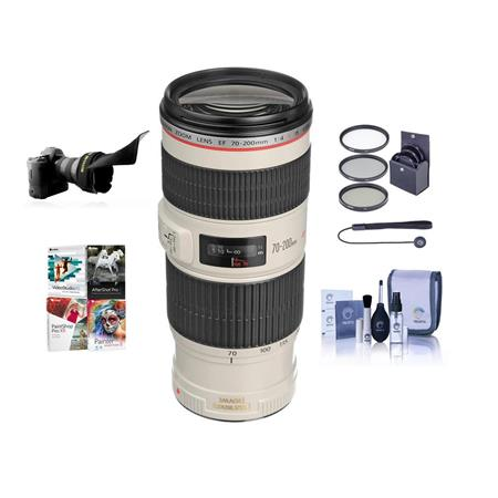 EF 70-200mm f/4L IS USM Autofocus Lens Kit, USA with 67mm Filter Kit, Lens Cap Leash, Clea