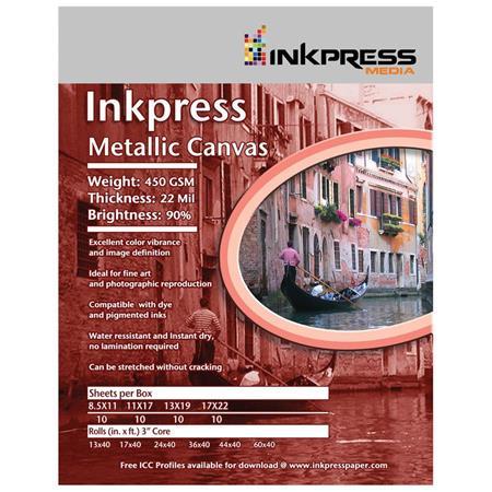 inkpress metallic canvas inkjet