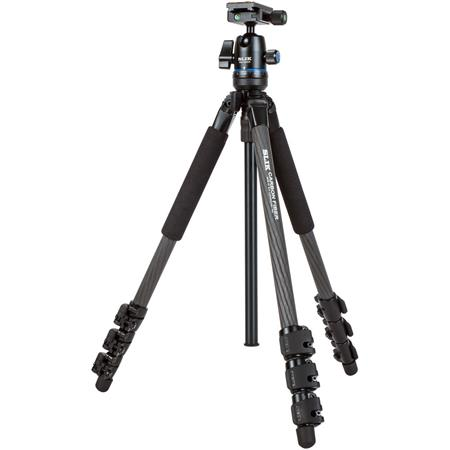 PRO 634CBH 4-Section Carbon Fiber Tripod with PBH-425DS Ball Head, 6.6 lbs Capacity, 66