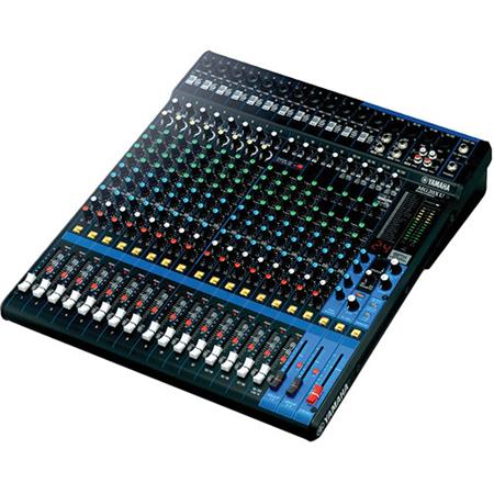 yamaha mg20xu 20 input 6 bus mixer with rack mount kit 2in 2out usb audio functions 20hz 48khz frequency 48v phantom power 1 knob compressor
