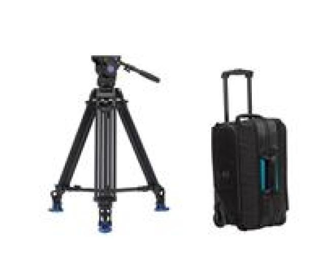 Benro Bv6 Pro Tripod Kit A673t Video Tripod And Bv6 Video Head W Tenba Roller 21