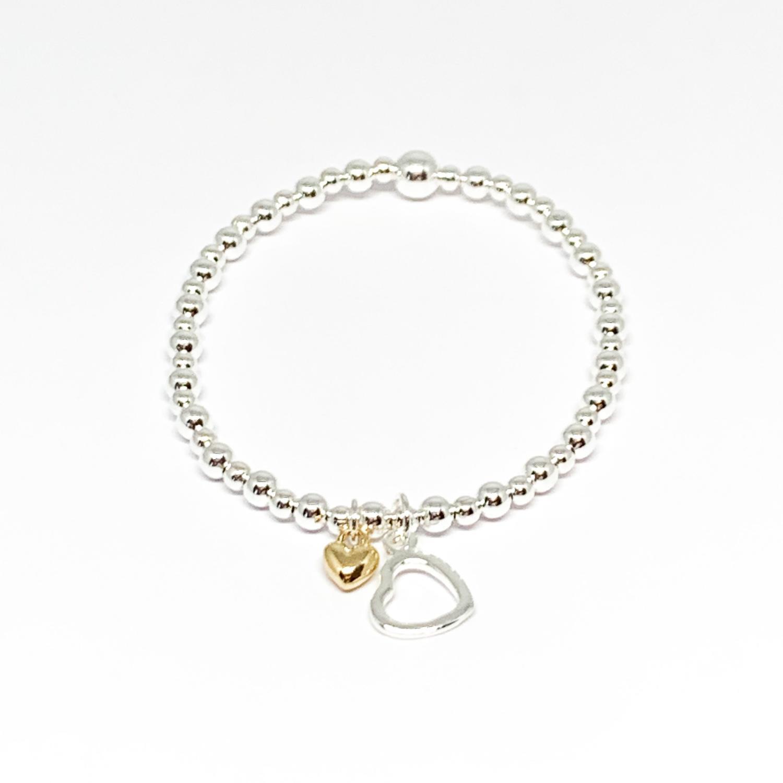 """Clementine """"Sophia"""" Heart Bracelet – Gold"""