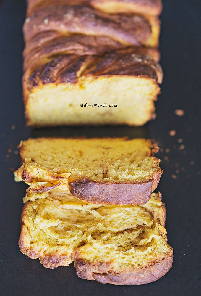 Braided Pumpkin and Cinnamon Brioche Bread