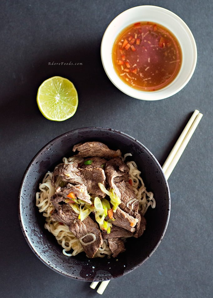 Thai-Style Beef with Noodles