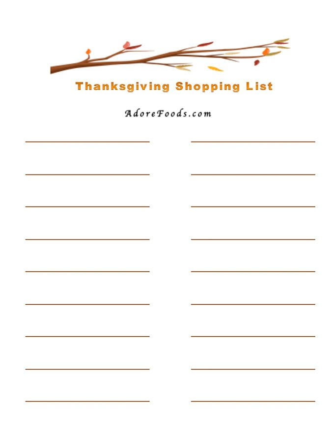 FREE Printable Thanksgiving Dinner Planner