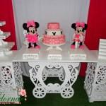 Decoração Kit Provençal Festa Infantil Minnie Rosa