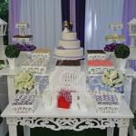 Aluguel Decoração Casamento Noivado Lilás Roxo e Branco