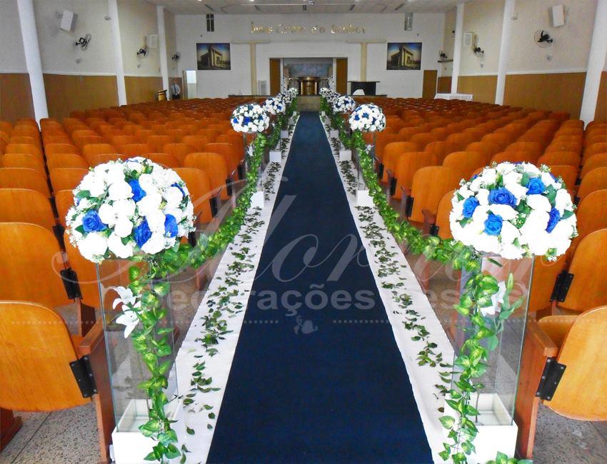 Decoração Casamento Azul e Branco