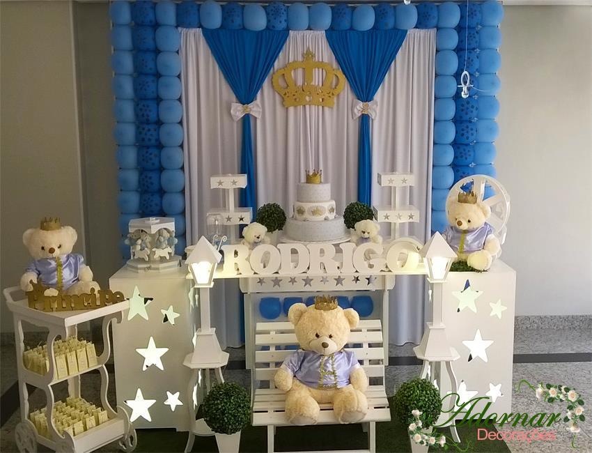 Decoração Chá de Bebê Urso Príncipe Azul