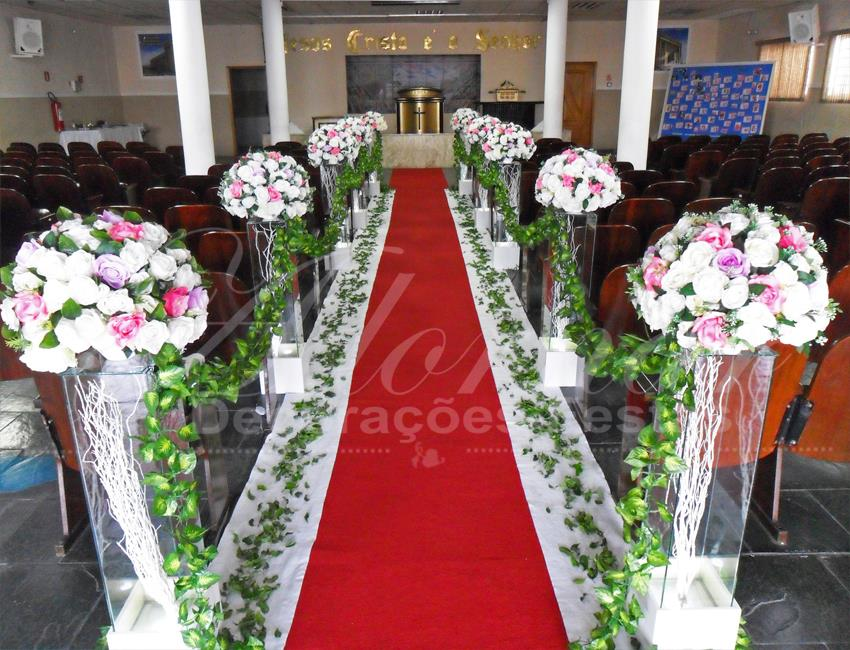 Decoração Casamento Lilás Rosa e Branco