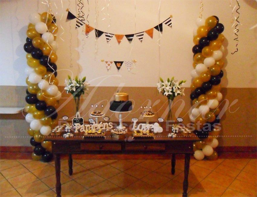 Decoração Aniversários Adulto Dourado