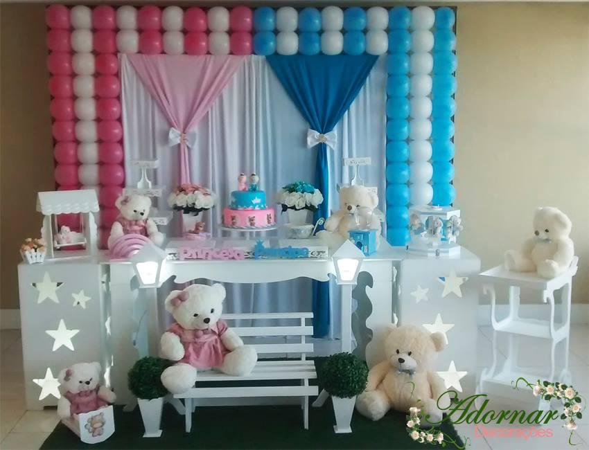 Decoração Chá de Bebê Revelação Urso