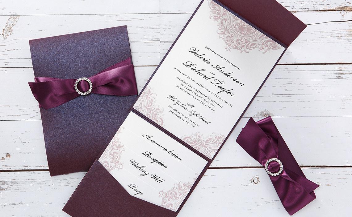 Handmade Wedding Invitations  Personalised Wedding Cards