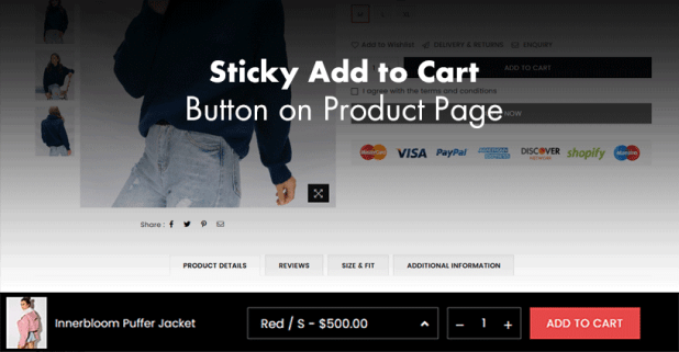 Sticky add to cart