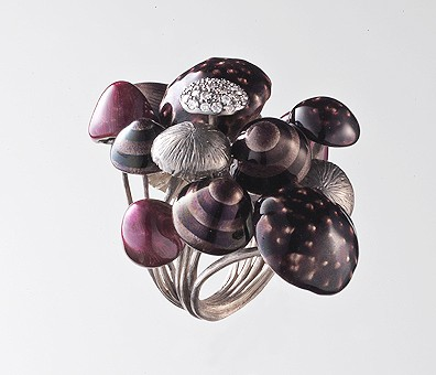Anel Alice - Floresta de Cogumelos