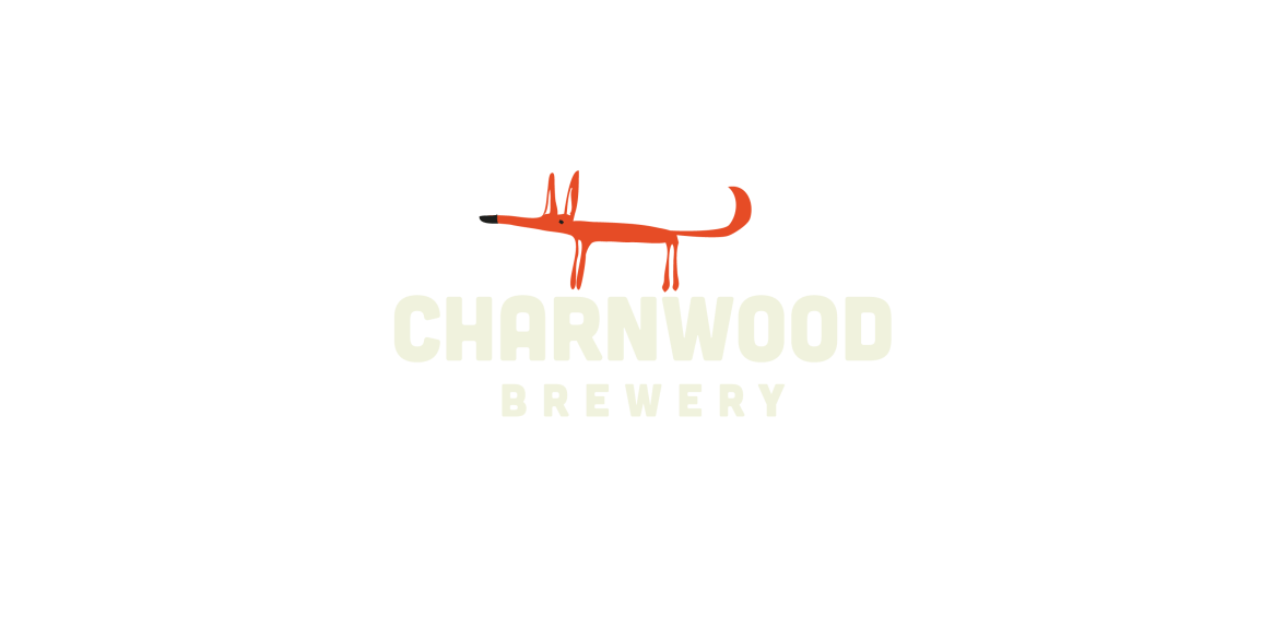 Charnwood Brewery logo featuring Clarence the fox, the Loughborough local brewery mascot.